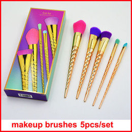 Wholesale Make Up Brushes Foundation - 2017 New Makeup Brush kit 7pcs set Professional brushes Powder Foundation Blush Make up Brushes Eyeshadow brush Kit