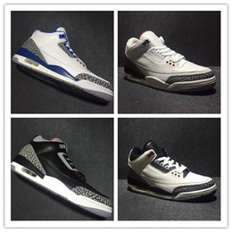 Wholesale Carbon Air Free - Free Shipping Air Retro 3 Mens Basketball Shoes Top Quality With Real Carbon Fiber Top Leather Athletics Sneakers Size 7-12