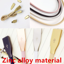 Wholesale Metal Android Phones - Micro USB Cables 1M 3ft 2.1A Fast Charger Zinc Alloy Metal Connector USB 2.0 Sync Data Cable for Android And Phone