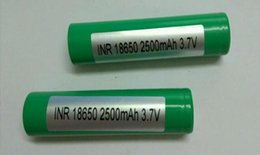 Wholesale High Power Li Ion Battery - DHL High quality NR18650-25R High quality batteries20A Grade High Power Li-ion Rechargeable Battery Cell For Electonic Cigarette