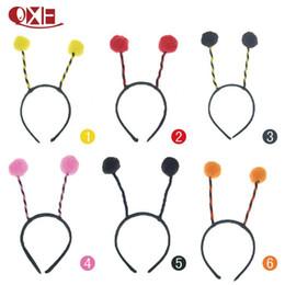 Wholesale Headband Ladybug - 5 colors Child & Adult Ball Ladybug Fly Bee Ant Headwear Antenna Headband Costume WD365