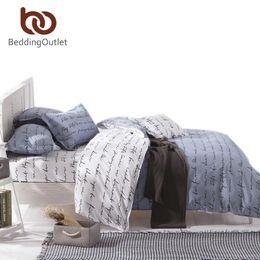 Wholesale Cotton Comforter Sets Queen Sale - Wholesale-2016 Hot Sale Black And White Home Textiles Plain Printed Comforters Cheap Soft Bedding Sets Twin Queen King Size
