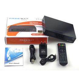 Wholesale Genuine T2 - [Genuine]with USB wifi Freesat V7 Combo Satellite Receiver DVB S2 + DVB T2 Combo Receiver Support PowerVu Biss Key Newcam Youtube Youporn