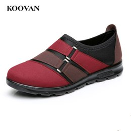 Wholesale Two Color Work Dresses - Old People Shoe Mother Shoes Fashion Women Flat Pregnant Shoes Work Loafer Koovan 2017 Autumn New Shallow Mouth Two Color W453