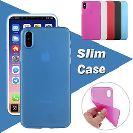 Wholesale Protection Skin - 0.3mm Ultra Thin Slim Matte Frosted Transparent Flexible Soft PP Lens Protection Back Skin Full Cover Case For iPhone X 8 7 Plus 6 6S