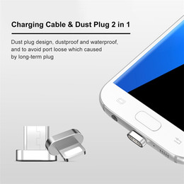 Wholesale Apple Iphone 5s Charger Cable - VOXLINK Micro USB Magnetic Cable USB Data Charger Cable Nylon Braided Wire For iPhone 6 6s Plus 5s iPad Samsung Sony Xiaomi Huawei