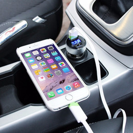 Wholesale Diagnostic Iphone - New Car Charger 5V 3.1A Fast Charge Dual USB Port LED Display Cigarette Lighter Phone Adapter Car Voltage Diagnostic For Smart Phone