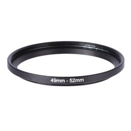 Wholesale Lens Filter Adapter Ring - Wholesale- 49-52mm Metal Step Up Ring 49mm-52mm 49 to 52 D SLR Lens Filter Stepping Adapter Camera DSLR Accessories