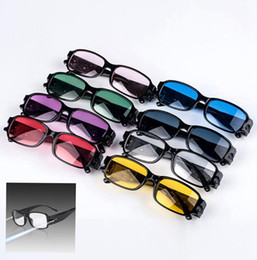 Wholesale Night Reading Lights - Multi Strength LED Reading Glasses Light lens Night Vision aged Glasses LED lighting Reading Eye Glasses KKA1757