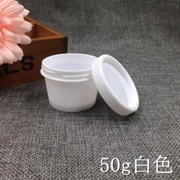 Wholesale Salt Jars Bottle - 50ps50ml Gram Promotion Empty Plastic Facial Mask Container Bath Salt Bottle Women Cosmetic Fefillable Jar Packaging