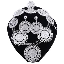 Wholesale African Costume Jewellery Sets - Fashion Jewelry Sets African Nigeria Beads Dubai Jewellery Set Women Wedding Bridal Turkish Choker Costume Jewelry Set