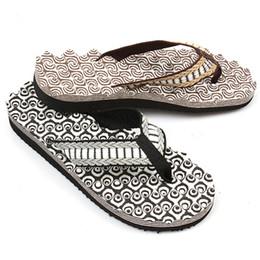 Wholesale Sew Applique Beads - Wholesale-Men Flip Flops Slippers Sandals Summer Beach Men's Shoe Wear-resistant Foam Bottom Massage Beads Breathable Size 40-44