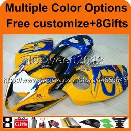 Wholesale Hayabusa Corona Fairing - Tank cover+GSXR1300 2008 2009 2010 2011 2012 2013 2014 2015 2016 GSX-R1300 yellow CORONA motorcycle Fairing for Suzuki Hayabusa