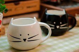 Wholesale Animal Ceramic Mugs - Hot Novelty Cute Cat Animal Milk Mug Ceramic Creative Coffee Porcelain Tea Cup