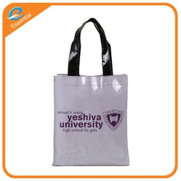 Wholesale Pvc Advertising - Customized LOGOpvc mirror leather bag portable shopping bag promotional advertising design color printing bag