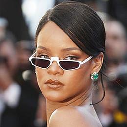 Wholesale Sunglasses Transparent Men - Boutique white sunglasses square women's transparent warp sun glasses brand designer Celebrity Rihanna acetate female vintage eyewear gafas