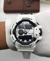 Wholesale New Chronograph Watch Mens - With Original Box Bags Mens g g400 sports watches gba 400 multifunction shock watch LED Runner ga110 100