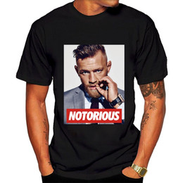 Wholesale Cheap Red T Shirts - Conor mcgregor Adult 2017 new High Quality 100% Cotton men's T Shirt cheap sell Free shipping