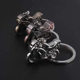 Wholesale Motorcycle Lock Chain - Metal key holder car key holder personalized motorcycle pendant key chain personality small gifts KR075 Keychains mix order 20 pieces a lot