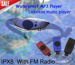 Wholesale Mp3 Mp Player 8gb - Wholesale- Sport music 8GB memory underwater MP3 Player radio FM head wearing MP 3 Players Diving swim surfing sports Super waterproof IPX8