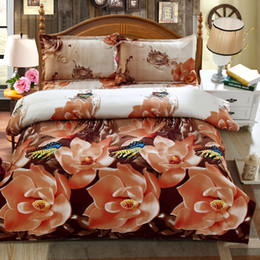 Wholesale Wholesale King Bedding Sets - Wholesale- 2015 hot 3D bedding set king size bed linen include duvet cover bed sheet pillow cases reactive printing