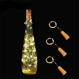 Lumière de forme de liège LED avec 2M 20 lampes LED bande bouchon de vin lumières couleurs changeantes article lumières pour Noël mariage de noël Halloween ? partir de fabricateur