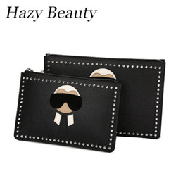 Wholesale Fashion Design Dolls - Wholesale- Hazy beauty New monster doll women pu leather clutch high chic hot design lady handbag easy taking madam bags hot DH114