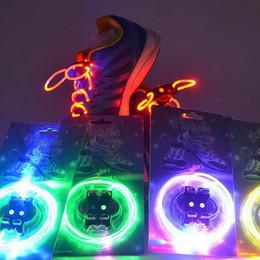 Wholesale Wholesale Shoes N - 20pc=10pair LED Flashing Shoe Lace Fiber Optic Shoelace Luminous Shoe Laces Light Up Flash Glowing Shoes lace Colorful #Z107