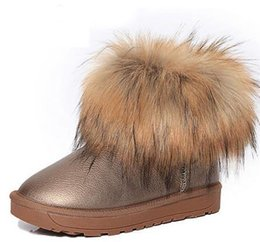 Chaussures pour femmes Bottes de neige en fourrure épaisse 2016 Bottes en coton d'hiver pour femmes Bottes de cheville ? partir de fabricateur