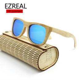 All'ingrosso-2016 gli uomini o le donne hanno polarizzato gli occhiali da sole di legno di bambù Specchio del progettista di marca Occhiali originali femminino oculos de sol masculino cheap wholesale men sunglasses wooden da occhiali da sole uomo all'ingrosso in legno fornitori