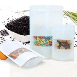 Wholesale Dried Fruit Tea - wholesale 100pcs lot Size 3 size self sealing white thickened plastic bag dried fruit,tea,grain,powder,food bags