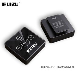 Wholesale Sports Transmission - Wholesale- 2017 Newest Bluetooth Sport MP3 Music Player RUIZU X15 8GB Support Phone Bluetooth Transmission Music Mp3 Bluetooth 4.2 in Stock
