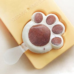 Wholesale Homemade Boxes - DIY cat claw ice plastic mold Poached Egg creative strawberry ice cream popsicle box Sakura claw box of homemade popsicles