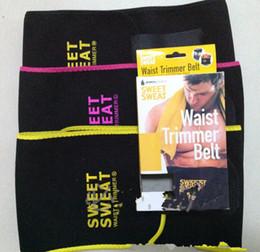 Wholesale Belt Wraps - Sweet Sweat Premium Waist Trimmer Men Women Belt Slimmer Exercise Wrap Lose Weight Trainer Belts KKA1290