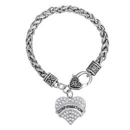 Wholesale girls metal bangles - Fashion Special rhodium plated Sliver color zinc alloy girl CONFIRMATION pendant metal pendant bracelet jewelry wholesale bangle