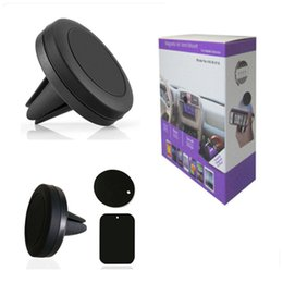 Wholesale Magnetic Car Box - Car Mount Magnetic Air Vent Phone Holder Universal CellPhone GPS Air Vent Magnetic Stand Car Mount Holder Smart in Box for iphone 8 7 6 6S