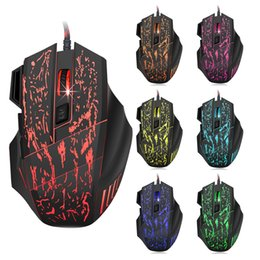 Wholesale Professional Gamer - High Quality Professional Wired Gaming Mouse 7 Button 3200DPI LED Optical 6D USB Computer Mouse Gamer Mice For PC Laptop