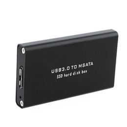 caja externa ssd Rebajas Al por mayor- 5Gb / s USB 3.0 a mSATA SSD Recinto USB3.0 a mini-SATA Disco duro SSD External HDD Mobile Box
