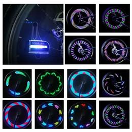 Wholesale Lights For Bike Spokes - Bright Bike Wheel Lights - Waterproof 14 LED Spoke Light for Night Riding 30 Different Patterns Change - Best Christmas Gifts & Birthday