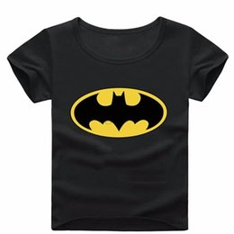 Wholesale Canvas Brand Clothing - Bat Pattern Short Sleeve T Shirt Boys Clothes Spring Summer Boys kids Girls New Baby Shirt Children Clothing