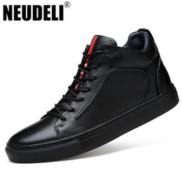 Wholesale-NEUDELI Big size 37-47 winter men boots Euro fashion genuine  leather shoes thick fur warm male ankle snow boots e7b0eaa9a628