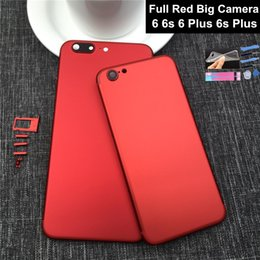 Wholesale Iphone Red Housing - New Full Red Housing For Iphone 6 6s Like 7 Aluminum Metal Back Battery Door Cover Replacement For Iphone 6 Plus Red