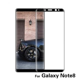 Wholesale Galaxy Note Colors - For Samsung Galaxy Note 8 Note8 3D Curved Surface Full Screen Cover Explosion-proof Tempered Glass Full Cover Film 4 colors