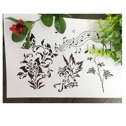 Wholesale Elf Mask - DIY stencil pattern design Masking template For Scrapbooking,cardmaking,painting,DIY cards and wall painting-Music elves weeds butterfly 226