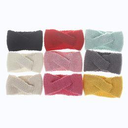 Wholesale Wholesale Newborn Headbands Handmade - Bohemian Newborn Kids Girl Knit Knotted Headbands Toddler Fashion Handmade Hairbands 2017 Babies Winter Warm Hair Accessories