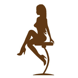 Wholesale Elegance Beauty Sexy Girl on Bar Stool Car Sticker for Window Bumper Motorcycle Laptop Kayak Home Car Decor Vinyl Decal