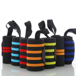 Wholesale dumbbells hands - Wrist Support Sports Care Weight Lifting Wristband Gym Fitness Dumbbell Barbell Power With Wrap Winding Protection Hand Band 6 5xj F1