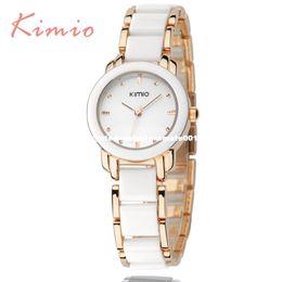 Wholesale Kimio Ladies Watches - KIMIO Ladies Imitation Ceramic Bracelet Cheap women watch famous luxury brand 2016 fashion Women's Watches for Women Hot Sale