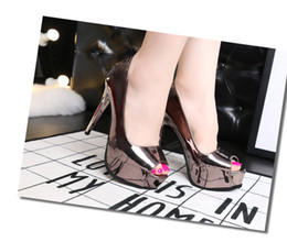 Wholesale Ankle Shop - wholesaler free shipping drop shopping fashion Stiletto Heel sexy platform peep toes high heel wedding shoe 151