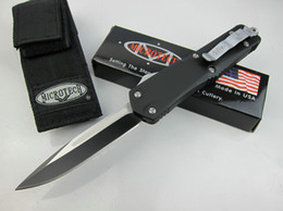 Wholesale Tech Sale - Sale 3 styles MICRO TECH pocket blade folding D head tactical automatic knives 440 blade tactical camping survival EDC knife